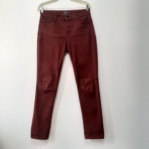 NYDJ Ami Skinny Legging Jeans Rust Size 6